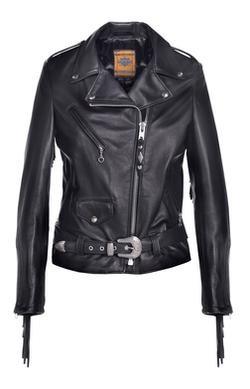 526W - Women's Fringed Motor Cycle Jacket