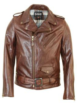 626 - Lightweight Cowhide Fitted Motorcycle Jacket (Brown)