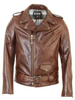 Cowhide Motorcycle Jacket - Brown