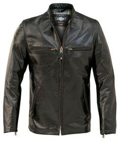 660 - Fitted Cafe Racer Jacket (Black)
