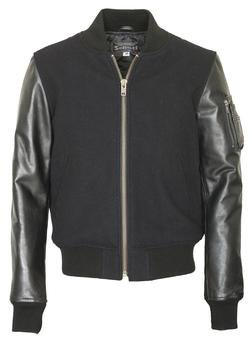"71422 - 26"" Wool Blend MA-1 Jacket (Black)"