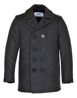 740B - Classic Melton Pea Coat in Boys Sizes