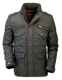 "91085 - ""Marlon"" Black Military Jacket"
