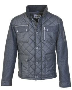 "91471 - 28"" Diamond Quilted Coated Nylon Field Jacket (Charcoal)"