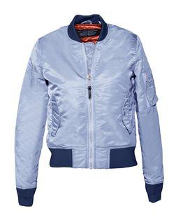 928JW - Women's Nylon Flight Jacket (Navy)