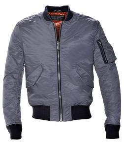 Grey MA-1 Flight Jacket