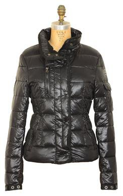 9391DW - Women's Down Filled Hip Length Ski Jacket (Black)