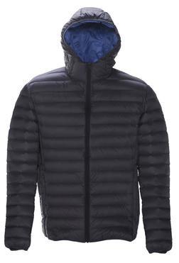 9515D - Nylon ultra light down filled  Silverado Jacket with hood (Black)