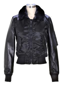 9515W - Women's nylon lambskin quilted jacket