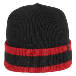 A004 - Stripe Watchcap (Black/Red)