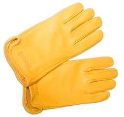A102 - Deerskin Leather Gloves (Gold)