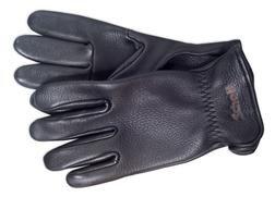 A103 - Elkskin Leather Gloves (Black)