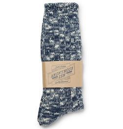 AIS2 - Slub crew sock (Navy)