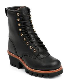 "L45BO - Chippewa Women's 8"" Black Oiled Insulated Logger - Limited Sizes"
