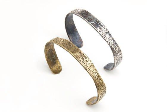 CUFF1 - Digby & Iona Black Spot Cuff in Bronze