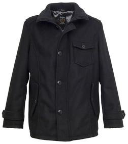 DU738 - Wool Car Coat (Black)