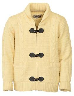 """F1328 - 26"""" Wool/Acrylic Blend Cable Knit Sweater (Offwhite)"""