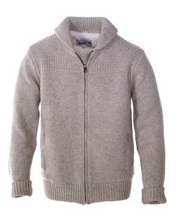 F1522 - Shawl Collar Sweater Jacket (Beige)