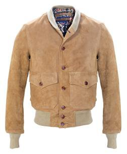 P2550 - Suede A-1 Leather Bomber Jacket