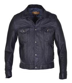 P560 - Men's Genuine Cowhide Trucker / Jeans Jacket