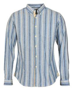 SH1423 - Slub Weave Striped Shirt (Blue)