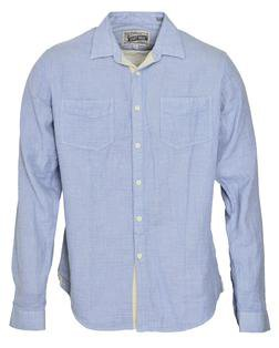 SH1427 - Work Shirt With Pockets (Blue)