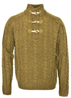 "SW1420 - 26"" Toggle Pullover Sweater (Olive) (Olive)"