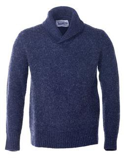 Navy Shawl Collar Cardigan