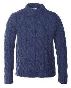 SW1502 - Chunky Cable Crewneck (Navy)