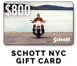 GC800 - $800 Schott NYC Gift Card