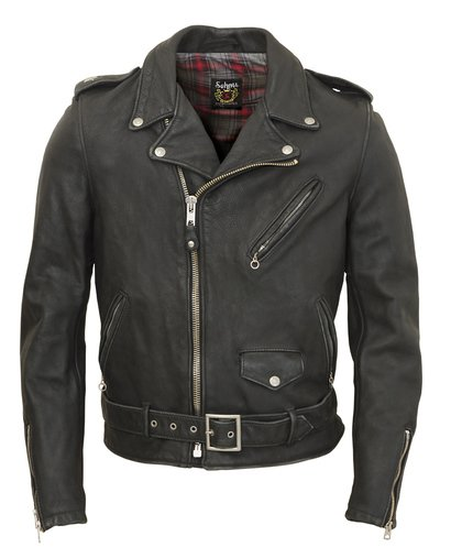 Cowhide Leather Motorcycle Jacket - Black